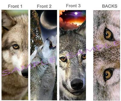 3 Lot-WOLF EYES BOOKMARK Book Mark Card WOLVES WIldlife dog coyote ART figurine