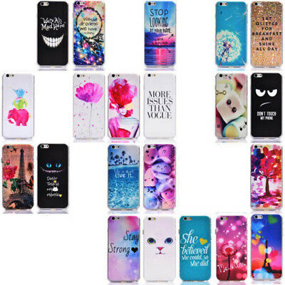 ZHWH Painted Hard Cover Case For Apple iPhone 7 6S 6 Plus Touch Galaxy S5 S6 S7