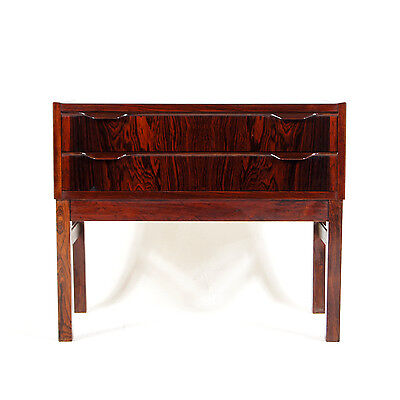 Retro Vintage Danish Modern Rosewood Hallway TV Stand Chest of Drawers 60s 70s