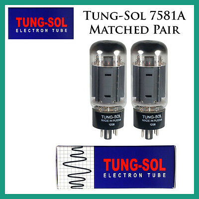 New 2x Tung-Sol 7581A   Matched Pair / Duet / Two Tubes   Free Ship