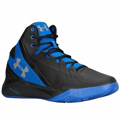 Under Armour Charged Step Back 1264223-005 Men's Basketball Black Blue (8 - 11)