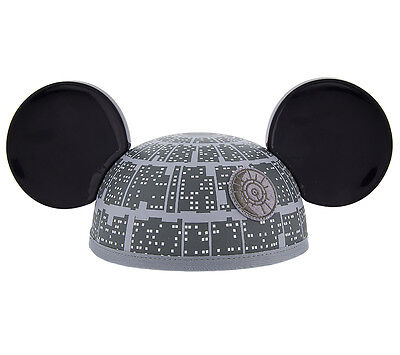 Disney Parks Star Wars Death Star Mickey Mouse Ears Hat NEW