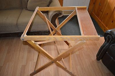 Rare Oak Wood Adjustable Dietzgen Drawing Drafting Folding Stand-Industrial