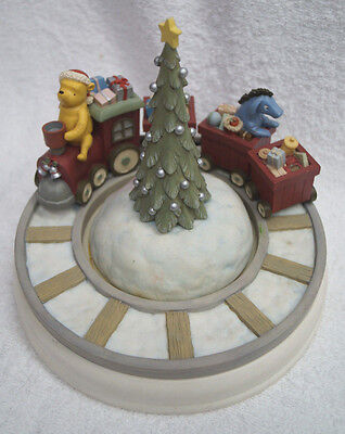 Michel & Company Classic Winnie the Pooh Music Box Rotating Merry Christmas