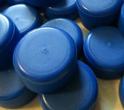 123 Blue Plastic Fiji Water Bottle caps LIDS TOPS #arts #Crafts CLEAN! #upcycle