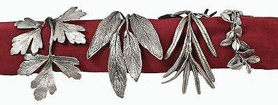 Herb Napkin Rings by Michael Michaud - Antique Pewter