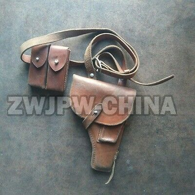 WW2 Original Chinese Vietnam War Army PLA Type 54 Brown Holster(Used)