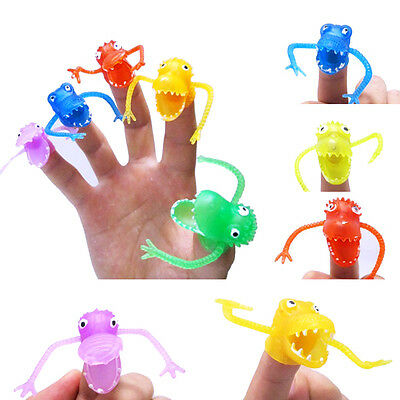 10Pcs New Finger Puppets Dinosaur Baby Educational Hand Cartoon Animal Toys Gift
