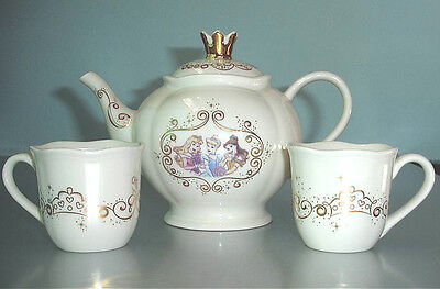 Lenox Disney Princess Tea Set Small Teapot & 2 Cups Handpainted Collectible New