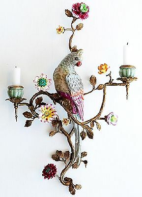 Oiseaux Parrot Wall Sconce - Candle Holder (Right) Exquisite Home Decor