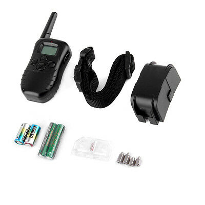 Waterproof 300M 100LV LCD Remote Dog Pet Training Collar Shock Vibrate SW