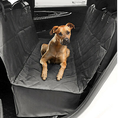 Pet Car Seat Cover With Seat Anchors for Cars Black WaterProof & NonSlip Backing