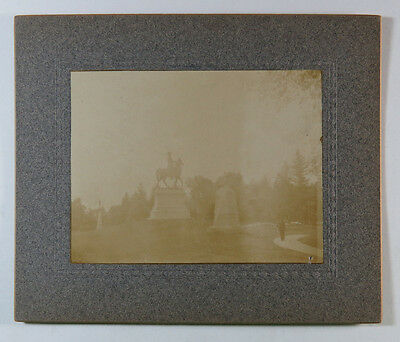 Antique Photograph - Monument to Major General Hancock, Gettysburg, Early 1900s