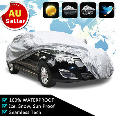Small Universal Full-size Car Cover Water Resistant UV Protection Anti Scratch S