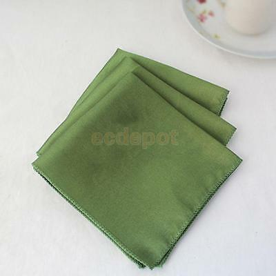 10x Plain Fabric Napkins (Made from polyester not cotton) Kitchen Wedding Party
