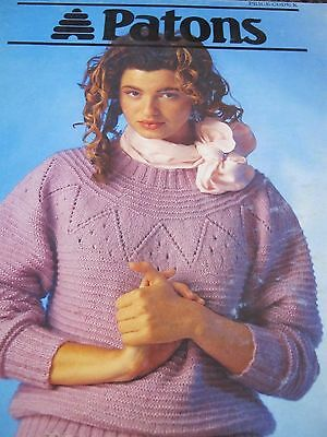Patons Knitting Pattern Book, No 833,ladies,new Cond,