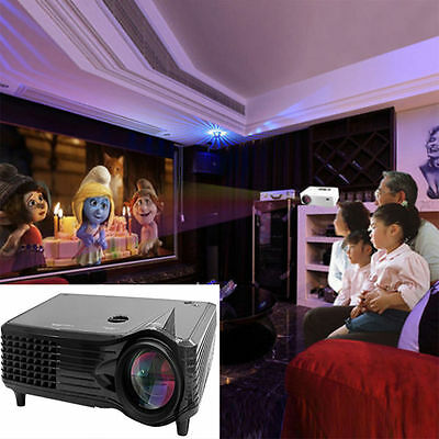 2000 Lumens Full HD 1080P LED LCD 3D VGA HDMI TV Home Theater Projector Cinema