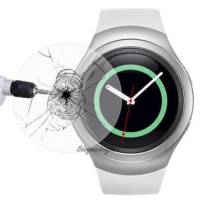 2x Tempered Glass Protective Screen Film for Samsung Galaxy Gear S2 S3 Watch