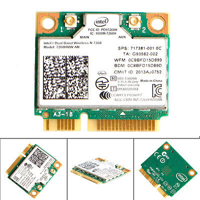 7260HMW Intel AN Dual Band Wireless +PCI-E WLAN MINI Card Bluetooth 4.0