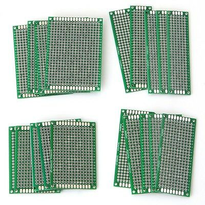 20Pcs Universal 4 Different Size Double-Side Prototype PCB Panel Circuit Board