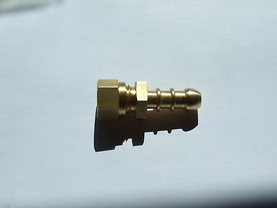 Fulham Gas nozzle 10mm copper pipe to 8mm rubber gas pipe.