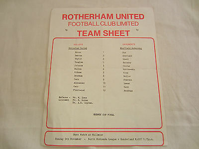 1981-82 SHEFFIELD COUNTY CUP FINAL  ROTHERHAM UNITED v SHEFFIELD WEDNESDAY