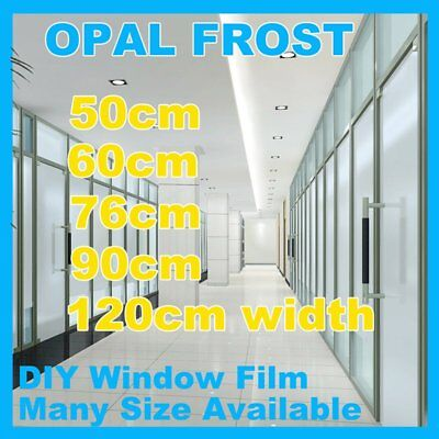 Frosted Window Film Privacy Opal Frost Etched Glass Self Adhesive Vinyl