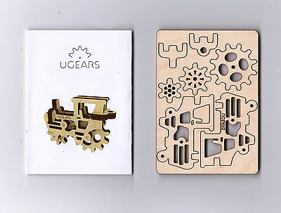 UGears Tractor TRINKET (1 piece) Wooden 3D puzzle TRIBKA Mechanical Bauble