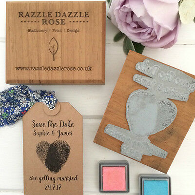 Save the Date Rubber Stamp - Finger Print