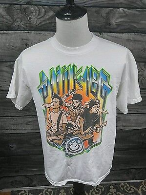 blink-182 T- Shirt white Graphic Tee Large