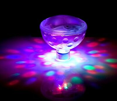 LED Underwater Disco Light Show Pool Waterproof Floating Party Spa Hot Tub Pond