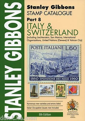 STANLEY GIBBONS - STAMP CATALOGUE PART 8 - ITALY & SWITZERLAND - 8th EDITION