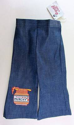 boys vintage denim jeans 1950's NWT's age 2 peanut butter logo baby rockabilly