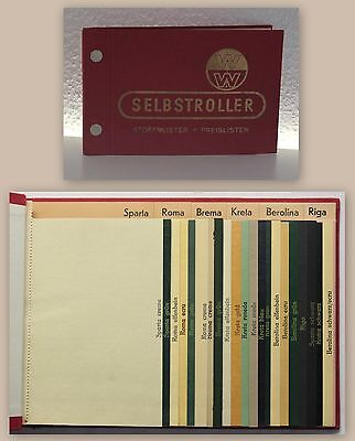 Berliner Rollo-Fabrik W. Weinhold Selbstroller Stoffmuster um 1935 Musterbuch xz