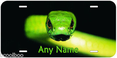 Green Snake Aluminum Any Name Personalized Car Novelty License Plate P02