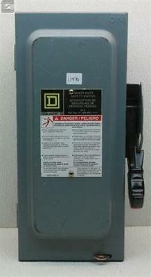 Square D HU361EI Heavy Duty Safety Switch 600V 30A 3PH Series F05 (Used)