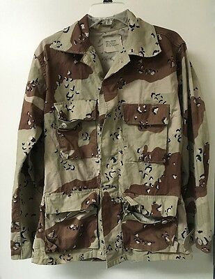 US Army BDU Jacket 6 Pattern Chocolate Chip Camo - Desert Storm - Small Reg