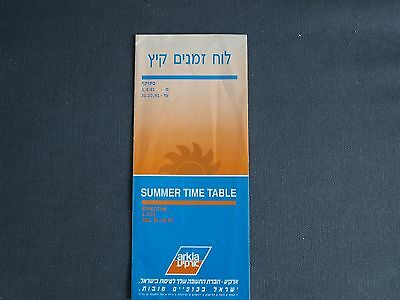 Arkia Israeli Airlines Summer Timetable May to October 1991