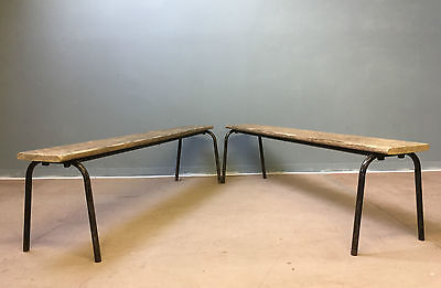 Mid Century Vintage Refectory Bench Stool Cafe Bar Restaurant Seating