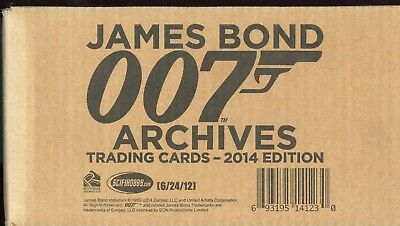 2014 Factory Sealed JAMES BOND Archives Card Case 12 BOX CARDS Autograph Relic