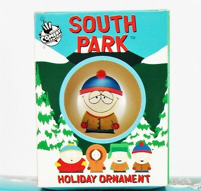 South Park Stan Glass Ornament Ball Holiday xmas Tree Rare Collectible