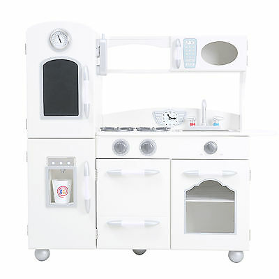 Teamson Kids Wooden Play Kitchen Set White