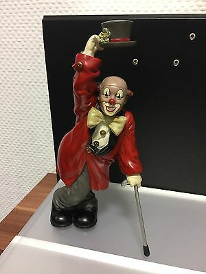 "Gilde Clown "" mit Stock & Hut "" 24,5 cm. Top Zustand !!"