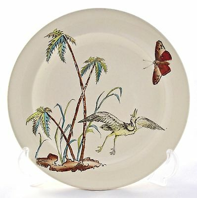 Aesthetic Movement Copeland  Stork & Butterfly D9875 Printed & Painted Plate