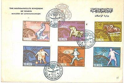 AI 168 1965 Yemen Ministry of Communication FDI Cover