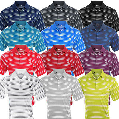 43% OFF RRP Adidas Golf Mens Climalite 2-Colour Stripe Left Chest Polo Shirt