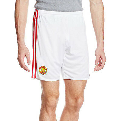 adidas Performance Mens Manchester United Home Replica Football Shorts - White