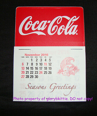 NEW 2017 Coca-Cola Red With White Script Dash Calendar Licensed SOLD TAX FREE