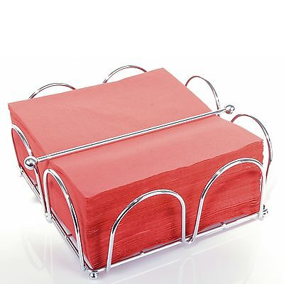 Horizontal Napkin Holder Dispenser Top Weight Chrome Wire Silver Dining Table