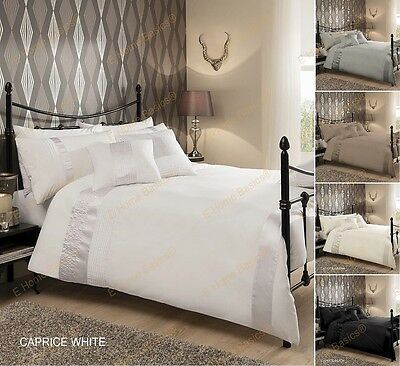Luxury Caprice Duvet Cover Pillow Cases Bedding Set Quilted Poly cotton All Size